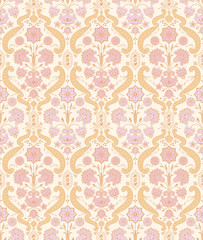 Seamless ornamental vintage pattern with stylized flowers.