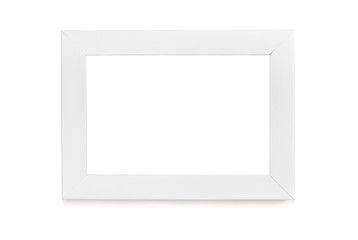 White picture frame over white background