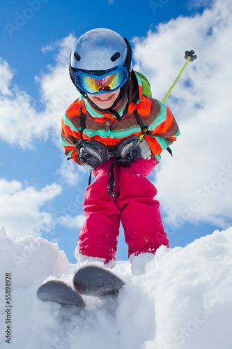 Girl on skis.