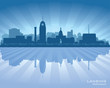 Lansing Michigan city skyline vector silhouette