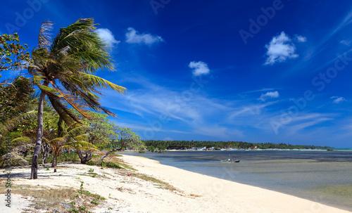 Sandy Beach under a blue sky