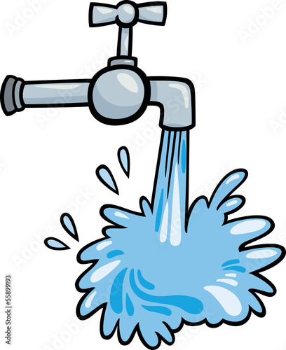 water tap clip art cartoon illustration