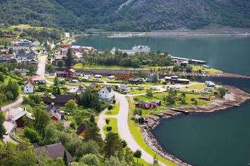 Eidfjord city, Norway