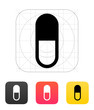 Pill Capsule icon. Vector illustration.