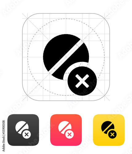 Pill icon. Vector illustration.