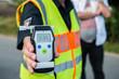 Leinwanddruck Bild - Alkoholtest - Polizei - Alkohol am Steuer