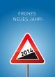Hintergrund Frohes neues Jahr mit Schild 2014