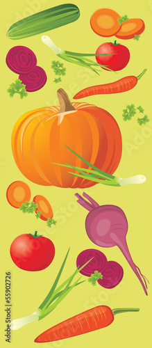Vegetable vertical banner