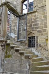 Scalinata di un palazo strorico, Viterbo