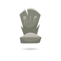 Grave isolated on a white backgrounds