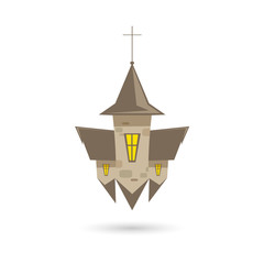 Church isolated on a white backgrounds