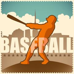 Retro baseball poster.