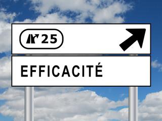 """Panneau """"EFFICACITE"""" (management compétitivité performance)"""