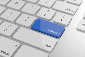 Korean translation button