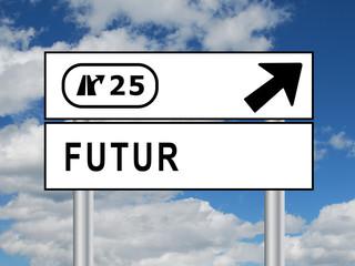"""Panneau """"FUTUR"""" (avenir temps vie temps vie mort passé présent)"""