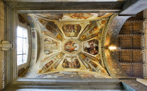 Ceiling of Giugni chapel in Basilica di Santa Croce.