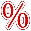 Prozent % Rabatt rot  #130906-svg03