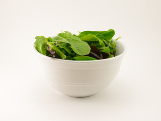 Salad Greens in Bowl