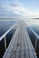 早朝の桟橋
