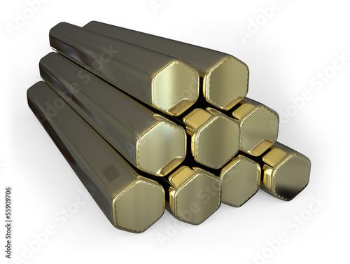 Hexagon brass bars