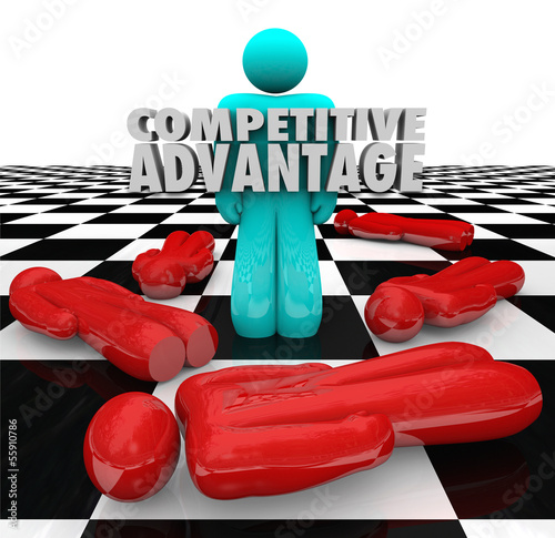 Competitive Advantage People Winner Stands Alone