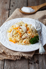 Chicken and bulgur pilaf
