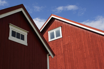 Barn and outbuilding on farm in Frosta, Norway