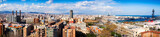Panorama of Barcelona from Montjuic hill