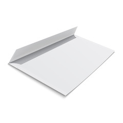 Blank envelope on white background.