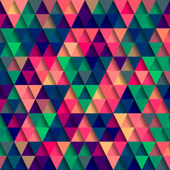 Abstract Pixel Triangle Pattern
