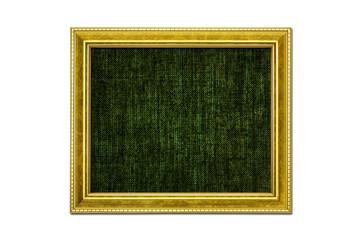 アンティーク調のゴールド額縁 黒キャンバス地