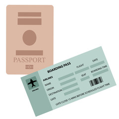 Passpoart and Boarding Pass