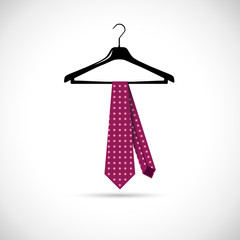 Vector men's fashion. Tie