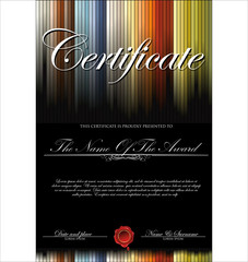 Colorful Certificate template