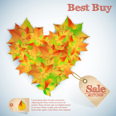 Autumn abstract floral sales background