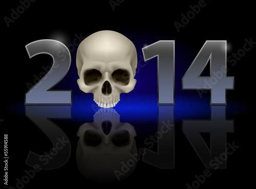2014 with skull