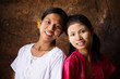 Myanmar girls smiling