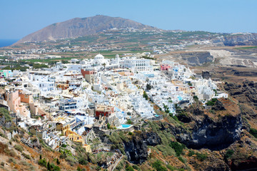 view of Fira town - Santorini
