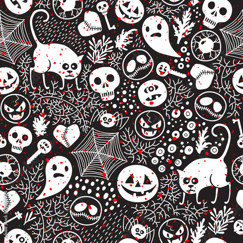 Cotton fabric Happy Halloween!