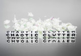 Chaotic clutter with papers poster