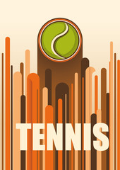 Colorful tennis poster.
