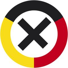 Wahlkreuz schwarz-rot-gelb