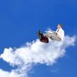 Businessman on the cloud. Internet concept