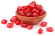 Pulp of pomegranate over white background