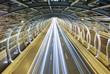Leinwanddruck Bild - Modern tunnel and traffic