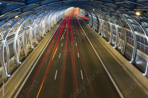 Fototapety, obrazy : Modern tunnel and traffic
