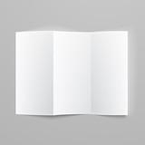 Blank trifold paper z-folded brochure. poster