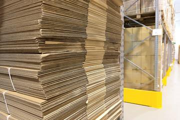 Heap of wavy corrugated