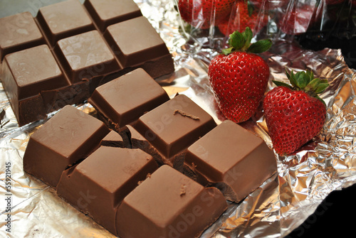 Fresh Strawberries and Chocolate