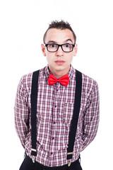 Surprised nerd